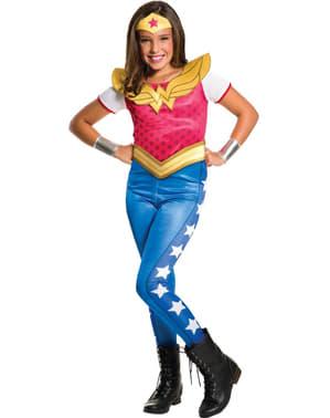 Costum Supergirl și Wonder Woman DC Superhero Girls pentru fată