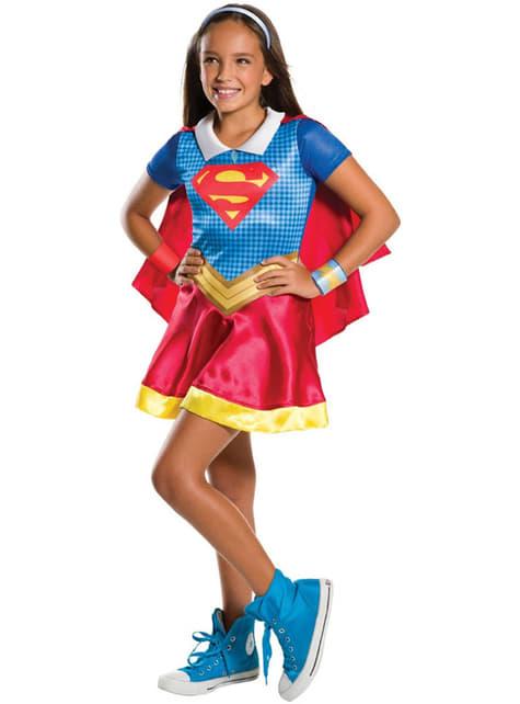 Fato de Supergirl e Wonder Woman DC Superhero Girls para menina