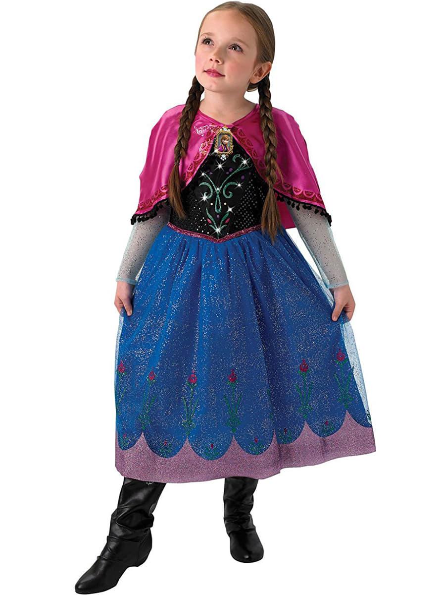 Costume anna la reine des neiges avec lumi re et son en - Anna la reine des neige ...