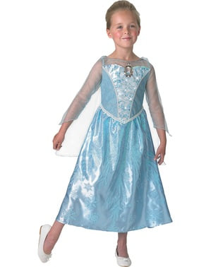 Elsa Frozen Kostüm mit Licht und Musik in der Box für Mädchen