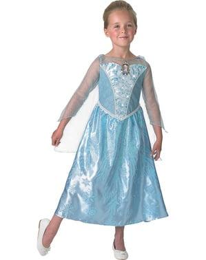 Fato de Elsa Frozen com luz e música em caixa para menina