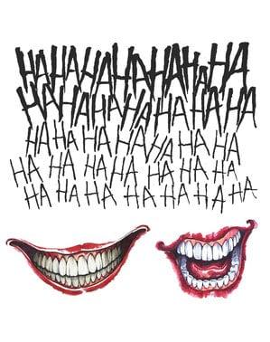 Conjunto de Tatuagens Joker Esquadrão Suicida