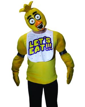 Mezza maschera da Chica  Five Nights at Freddy's per adulto