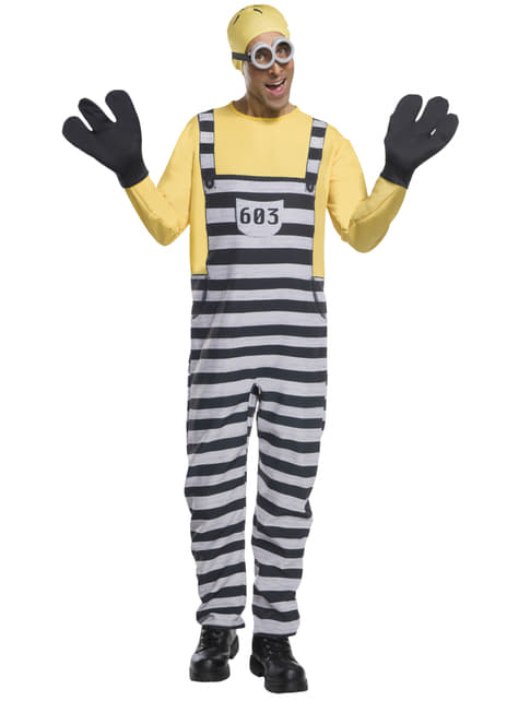 Jail Minion Tom Costume for adults
