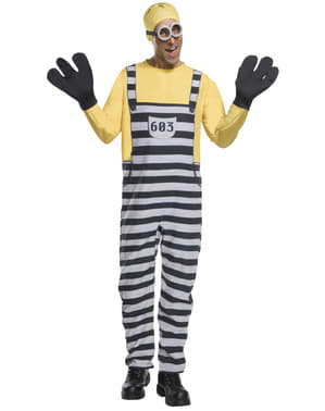 Déguisement Jail Minion Tom adulte