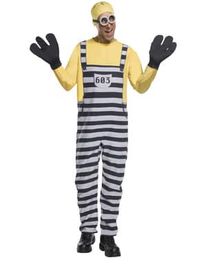 Fato de Jail Minion Tom para adulto