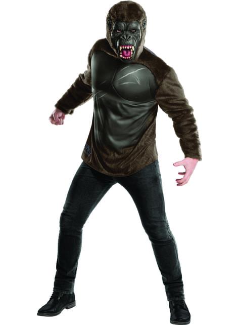 Kit disfraz King Kong La isla calavera deluxe para hombre