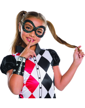 Maske Harley Quinn DC Super Hero Girls für Mädchen