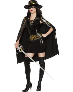 Sexy Zorro kostume til kvinder