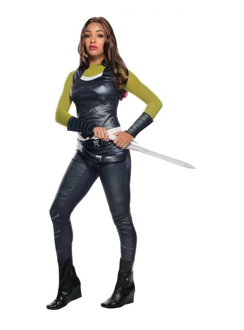Fato de Gamora Os Guardiões da Galáxia para mulher