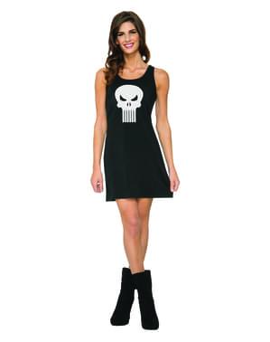 Punisher Marvel kjole kostume til kvinder