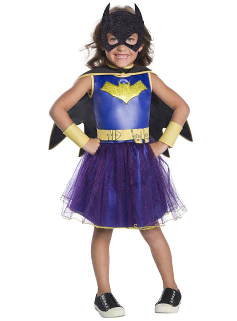 Maskeraddräkt Batgirl med tyll blå deluxe för flicka