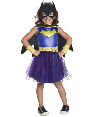 Deluxe Blue Batgirl costume with tutu for girls