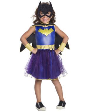 Maskeraddräkt Batgirl med tyll blå deluxe barn