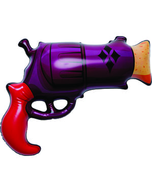 Pistola insuflável de Harley Quinn para adulto