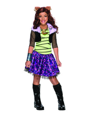 Deluxe Clawdeen Wolf Monster High kostyme for jenter