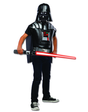 Kit costum Darth Vader Star Wars classic pentru băiat