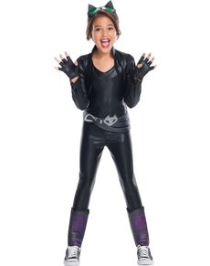 Costume Catwoman DC Super Hero Girls deluxe fille