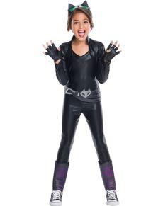 kostum catwoman dc super hero girls deluxe fur madchen