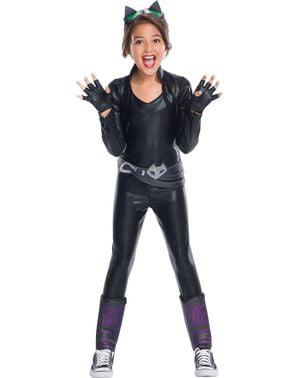 Fato de Catwoman DC Super Hero Girls deluxe para menina