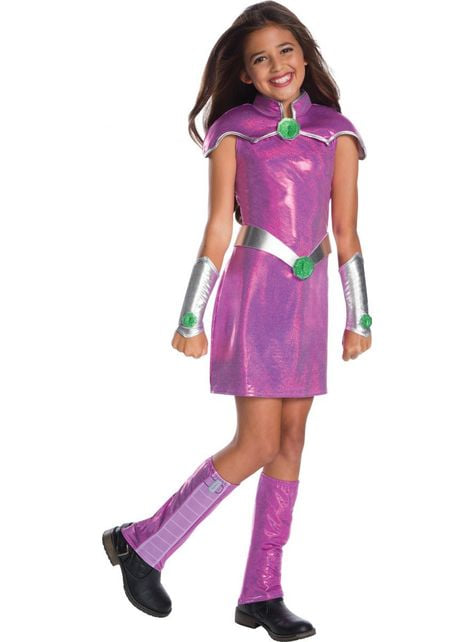 Fato de Starfire DC Super Hero Girls deluxe para menina
