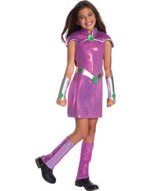 Costum Starfire DC Super Hero Girls deluxe pentru fată