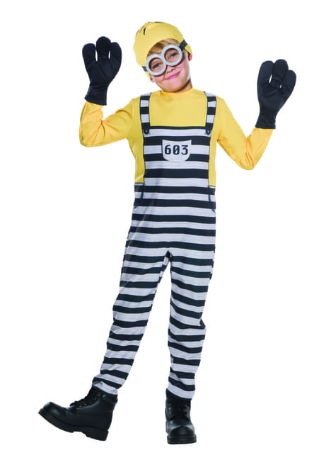 Prisoner Minion Tom costume from Despicable Me 3 for kids