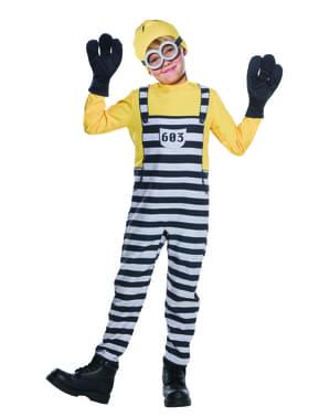 Fængsels Minion Tom kostume fra Grusomme Mig 3 til børn