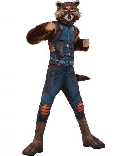 Guardians of The Galaxy Rocket Raccoon Kids Size L 12//14 Deluxe Costume CHOP