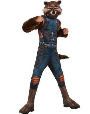 Costum Rocket Raccoon Gardienii Galaxiei 2 deluxe pentru copii