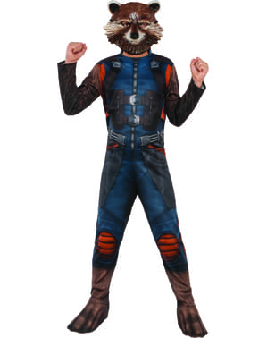 Costum Rocket Raccoon Gardienii Galaxiei 2 pentru copii