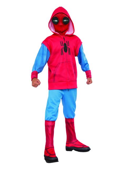 Disfraz de Spiderman Homecoming traje improvisado para niño
