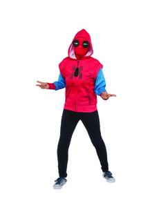Sudadera de Spiderman Homecoming traje improvisado para niño 3632adae7035