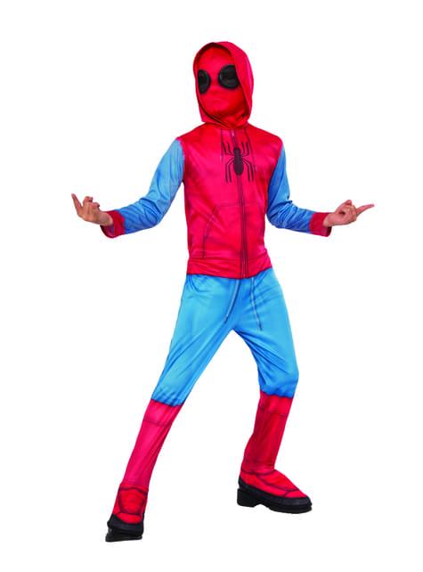 Kostüm Spiderman Homecoming improvisierter Anzug Classic für Jungen