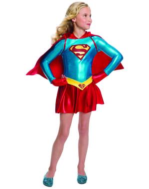 Supreme Supergirl kostyme for jenter