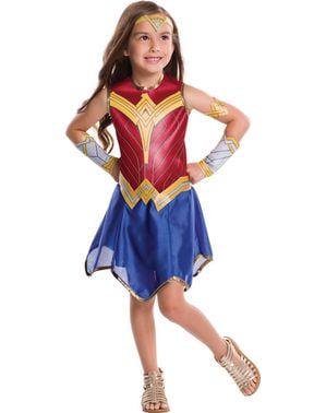 Kostum Wonder Woman Movie untuk anak perempuan