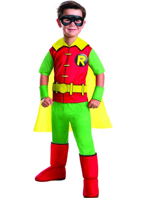 Disfraz de Robin Batman deluxe para niño