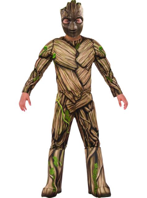 Fato de Groot Guardiões da Galáxia 2 deluxe para menino