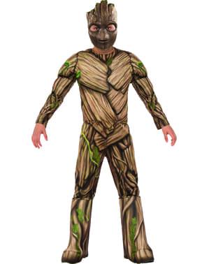 Disfraz de Groot Guardianes de la Galaxia 2 deluxe para niño