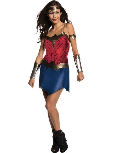 Fato de Wonder Woman Movie deluxe para mulher