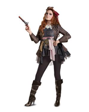 Fato de Jack Sparrow Homens Mortos Não Contam Histórias deluxe para mulher