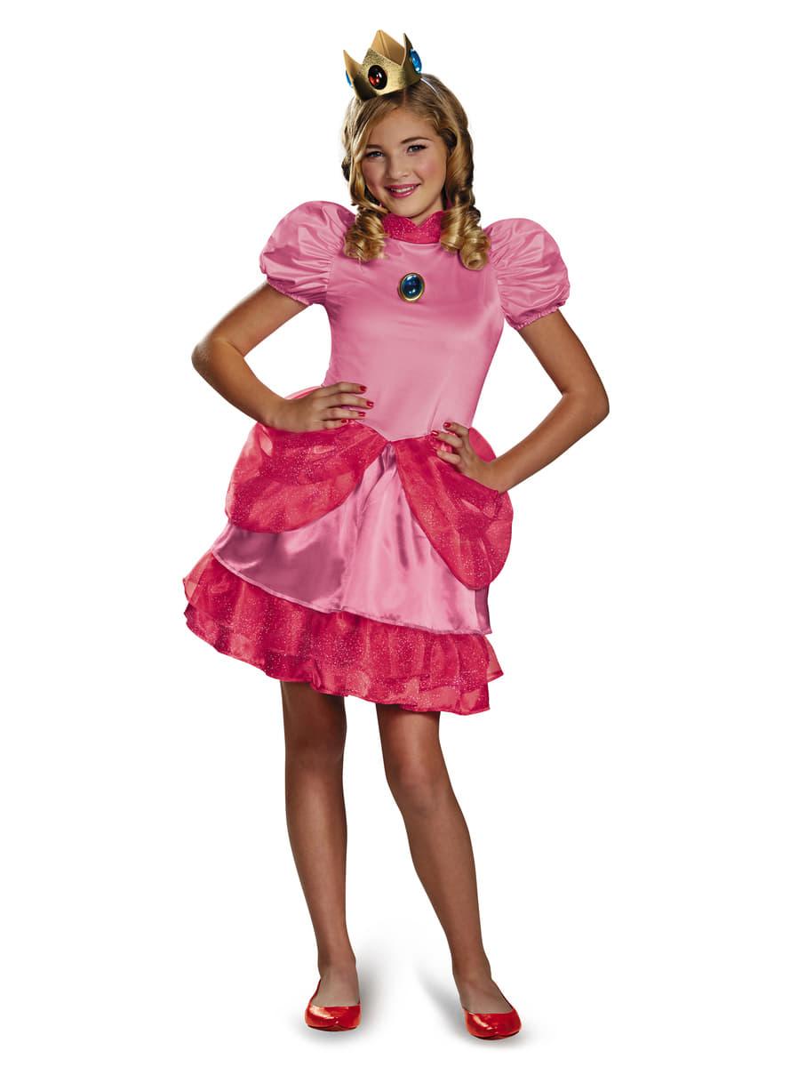 costume princesse peach super mario bros adolescente. Black Bedroom Furniture Sets. Home Design Ideas