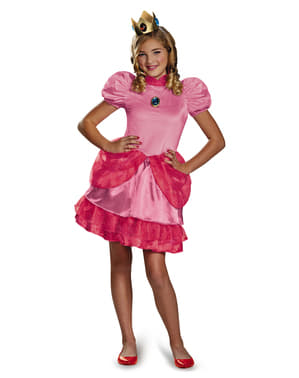 Disfraz de Princesa Peach Super Mario Bross para adolescente