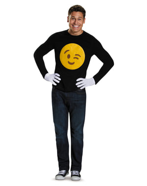 Zestaw emotikon puszczający oczko i rękawiczki dla dorosłych