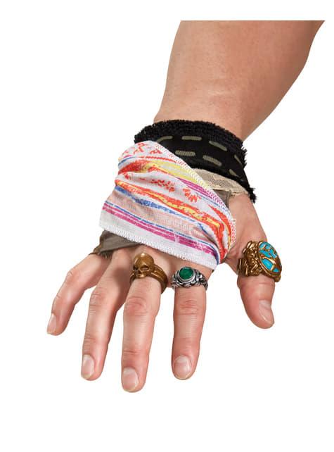 Kit accesorios de mano Jack Sparrow La Venganza de Salazar para adulto