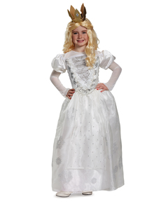 De witte koningin kostuum Alice in Wonderland voor meisjes