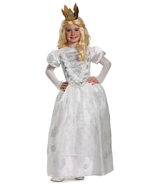Hvidt dronning Alice i eventyrland kostume til kvinder