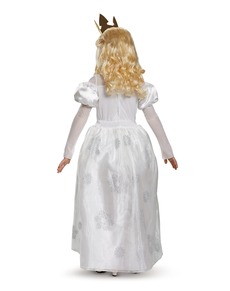 Valkoinen Kuningatar Liisa Ihmemaassa asu tytöille