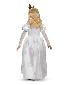 Weiße Königin aus Alice im Wunderland Kostüm für Mädchen