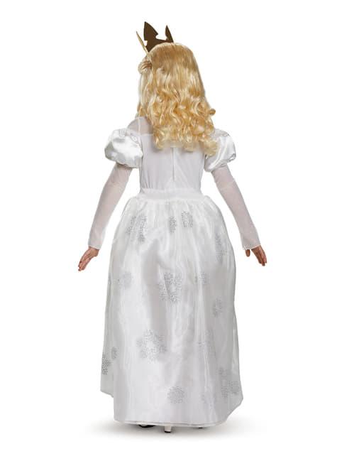 Disfraz de Mirana la Reina Blanca Alicia en el país de las maravillas para niña - niña